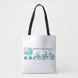 Baby Dreams of the Future Tote Bag