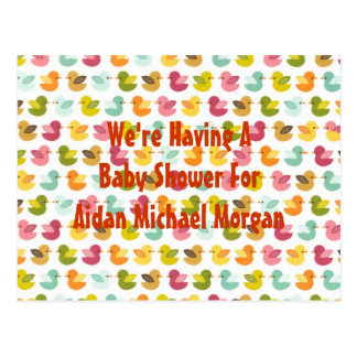 Baby Duckies Adoption or Birth Announcement Post Card