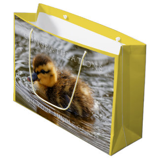 Baby Duckling Paddles in the Local Pond Large Gift Bag