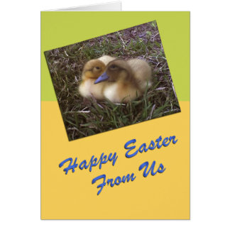 Baby Ducks Easter Card