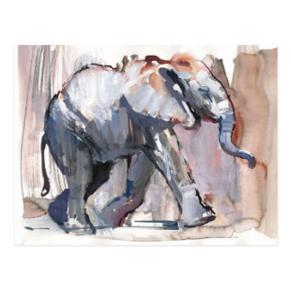 Baby elephant 2012 postcard