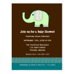 Baby Elephant Baby Shower Invitation Post Cards