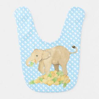 Baby Elephant Bib | Blue