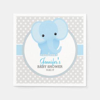 Baby Elephant (blue) Baby Shower Paper Napkin