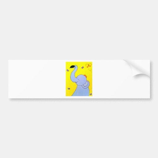 Baby Elephant Bumper Stickers