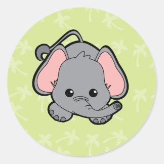 Baby Elephant Cutie Round Sticker
