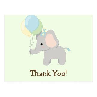 Baby Elephant; Jungle Animal Thank You Postcard