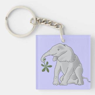 Baby Elephant Square Acrylic Keychains