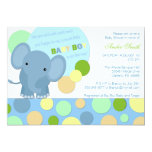 "Baby Elephant Shower Invitation 5"" X 7"" Invitation Card"