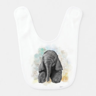 Baby Elephant Sitting Bib