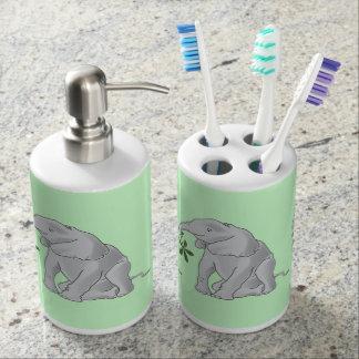 Baby Elephant Soap Dispenser And Toothbrush Holder