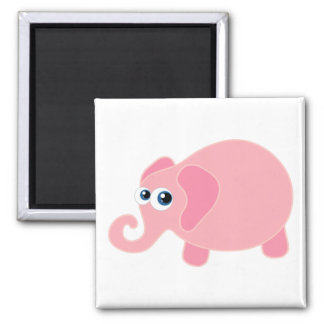 Baby Elephant Square Magnet