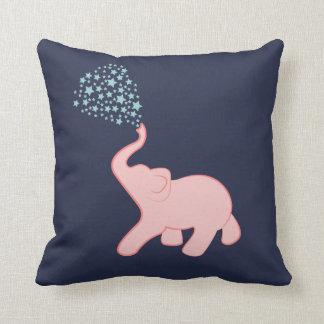 Baby Elephant Star Shower Throw Pillow
