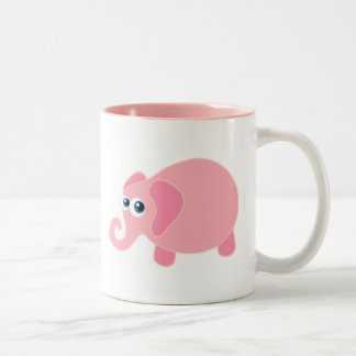Baby Elephant Two-Tone Coffee Mug