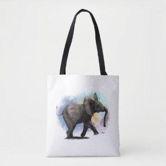 Baby Elephant Walking Tote Bag