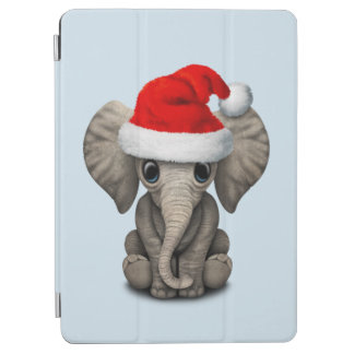 Baby Elephant Wearing a Santa Hat iPad Air Cover
