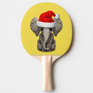 Baby Elephant Wearing a Santa Hat Ping Pong Paddle
