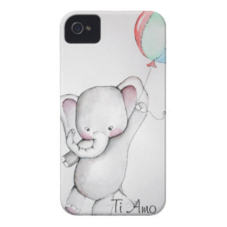 Baby Elephant with Balloon iPhone 4 Case