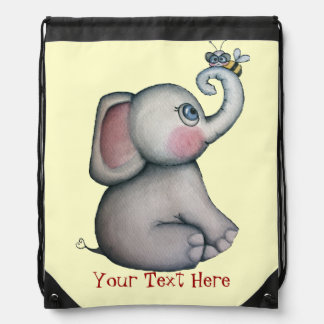 Baby Elephant with Bee Best Friend Backpack