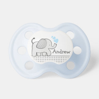 Baby Elephant with Blue Hearts Dummy