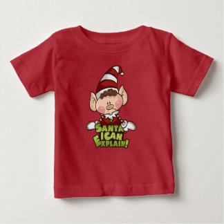 """Baby Elf - """"Santa I can..."""" Baby T-Shirt"""