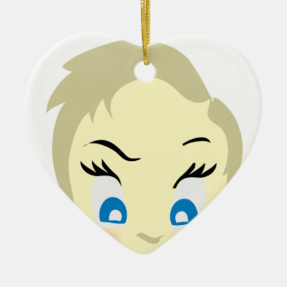 baby emoji - aggressive ceramic ornament