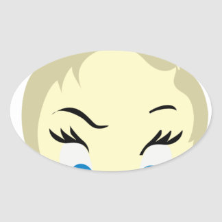 baby emoji - aggressive oval sticker