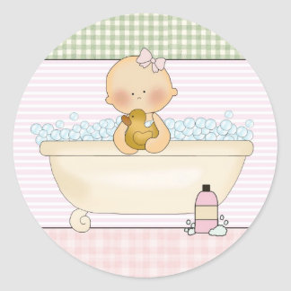 Baby- Envelope Seals: Sweet Baby Collection Classic Round Sticker