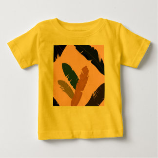Baby exotic Leaves Tshirt Yellow