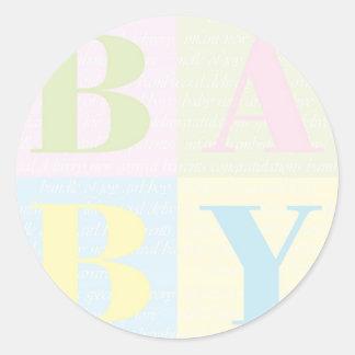 Baby expecting parent nursery crib scrapbook classic round sticker