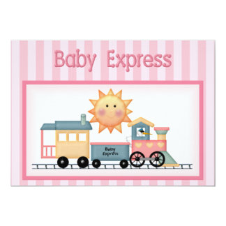 Baby Express Girl Baby Shower Invitation