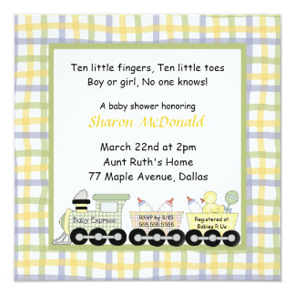 Baby Express Train Baby Shower Invitation