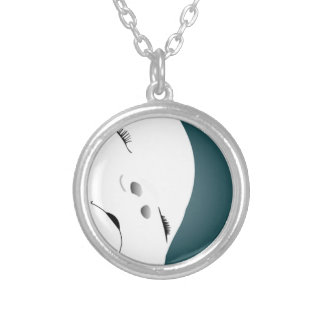 Baby Face 2 Silver Plated Necklace