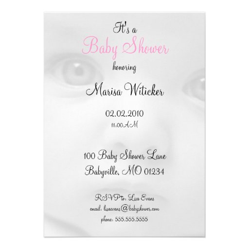 Baby Face Baby Shower Invitations