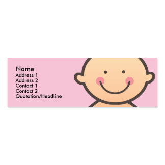 Baby Face Pink Skinny Profile Cards Business Cards