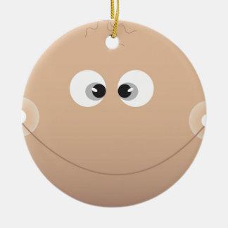 Baby Face Round Ceramic Decoration