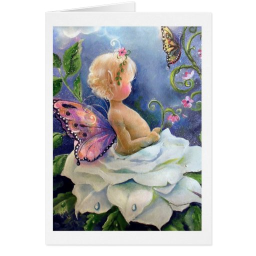 Baby Fae and Rose Card