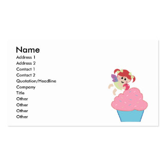 baby fairy cupcake cherry on top business cards