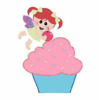 baby fairy cupcake cherry on top photo sculpture