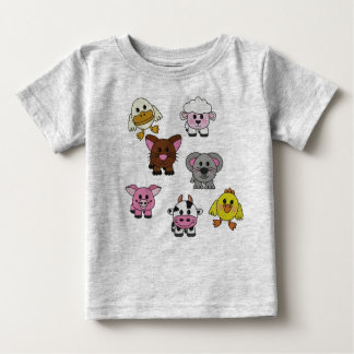 Baby Farm Animals Baby Tee