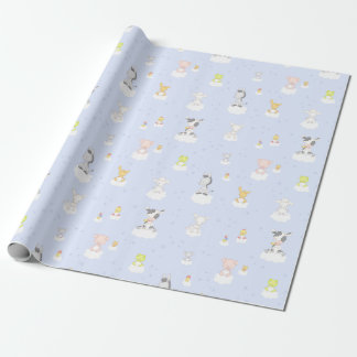 Baby Farm Animals Wrapping Paper