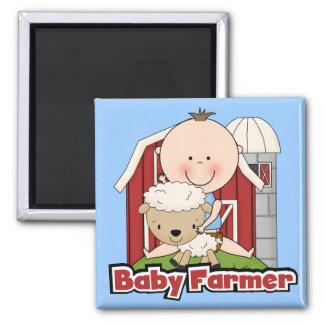 Baby Farmer With Sheep Tshirts and Gifts Square Magnet
