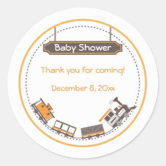 Baby Favor Sticker - Train