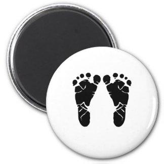 Baby Feet 6 Cm Round Magnet