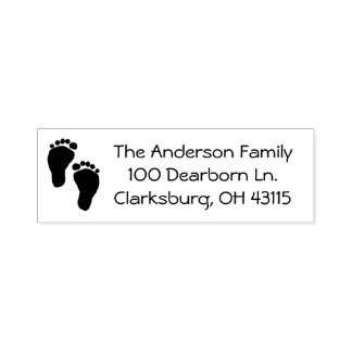 Baby Feet Address Self-inking Stamp
