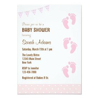 Baby Feet Baby Shower Invitation Pastel