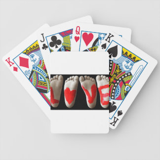 Baby Feet Bicycle Playing Cards