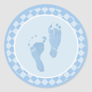 Baby Feet Blue Envelope Seal Stickers