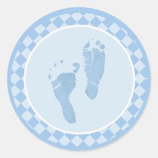 Baby Feet Blue Envelope Seal Stickers