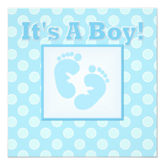 Baby Feet It's A Boy  Baby Shower Invitation
